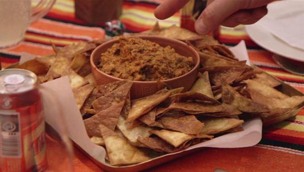 Billede af Snack: Frijoles con chorizo