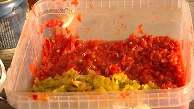 Mash af søde peberfrugter