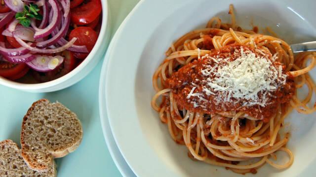Spaghetti bolognese eller spaghetti med kødsovs