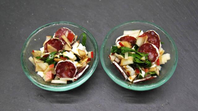 Salat i små skåle