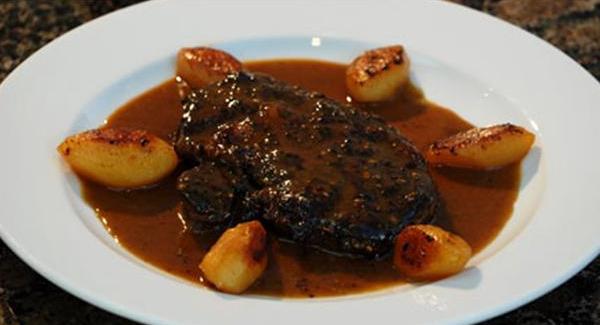 Billede af steak au poivre