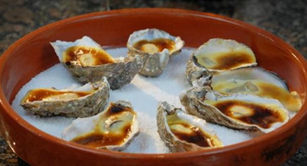 Billede af østers i champagnesauce