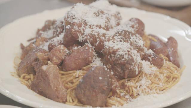 Sunday sauce med pasta