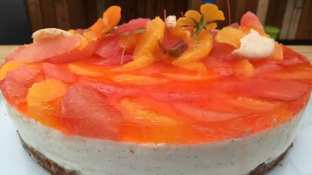 Billede af Cheesecake a la Italia med citrusfrugter og Aperol gele