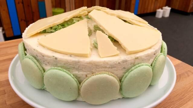 Billede af flot kage med smag af mojito
