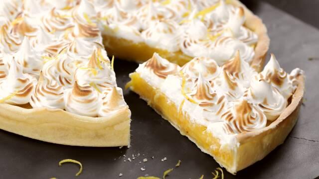Citrontærte - Tærte med citron og marengs