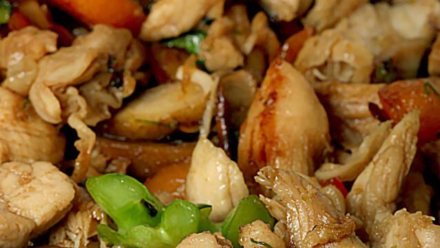 kylling med grøn karrypasta