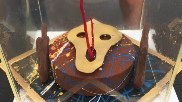 Smuk kage inspireret af maleriet Skriget