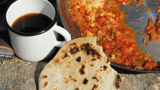 Billede af tortillas til mexicansk morgenmad