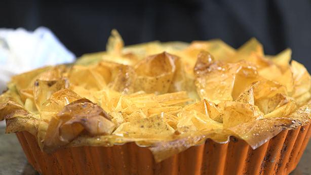 Fransk æbletærte i filodej