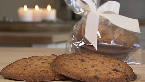 Billede af valnødde- og chokoladecookies