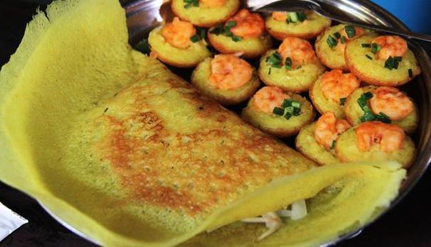 Vietnamesiske pandekager med fyld