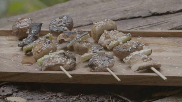 Yakitori af svampe