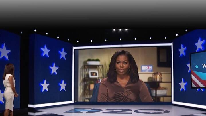 Michelle Obama advarer mod Trump på stjernespækket konvent: 'Tro mig, det kan blive værre endnu'