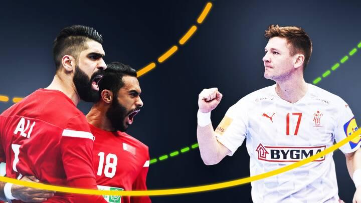 Fokus på nummer 97, 98 og 99: Danskerne har stor respekt for Bahrains navneløse spillere