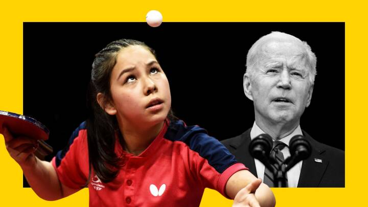 Sportens Greta Thunberg? 14-årig bordtennisspiller mingler med Joe Biden og drømmer om OL