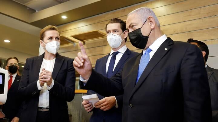 Mette Frederiksen holder pressemøde efter vaccine-topmøde i Israel