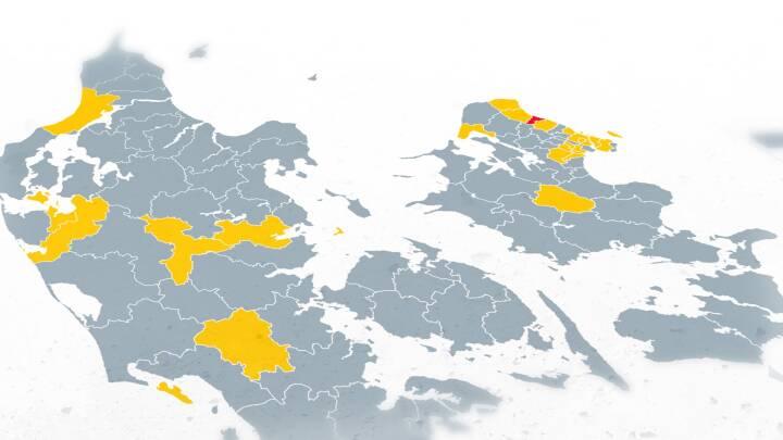 Kommuner med mange smittede læner sig op ad nedlukning: Se, om du er i farezonen her