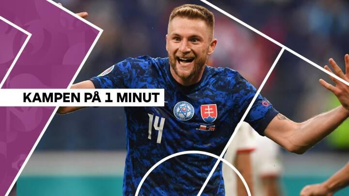 Flotte mål og rødt kort: Slovakiet overrasker og napper sejren mod Polen