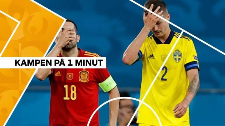 De brændte chancers kamp: Sverige og Spanien kan ikke score og spiller uafgjort