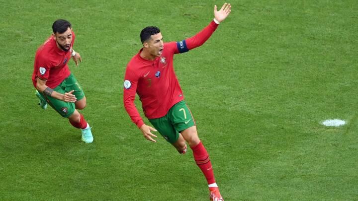 Er du Portu-gal en sprint: Ronaldo scorer 15 sekunder efter tysk hjørnespark