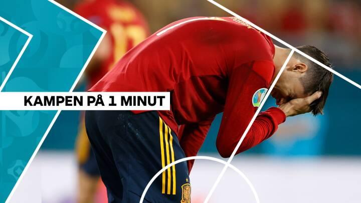 Spanien skuffer: Videre EM-færd hænger i tynd tråd efter uafgjort mod Polen