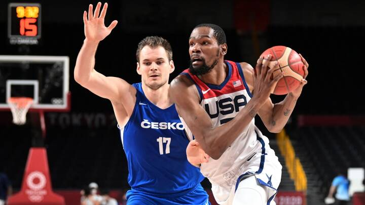 OL lige nu: Superstjernen Durant skrev sig ind i historiebøgerne med USA's sejr over Tjekkiet