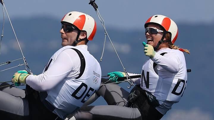 OL lige nu: Den danske Nacra 17 toppræsterer i de afsluttende sejladser