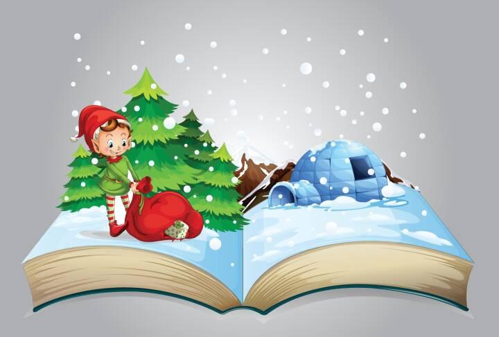 Bog, jul, nisse, læse, julebog, bogjul