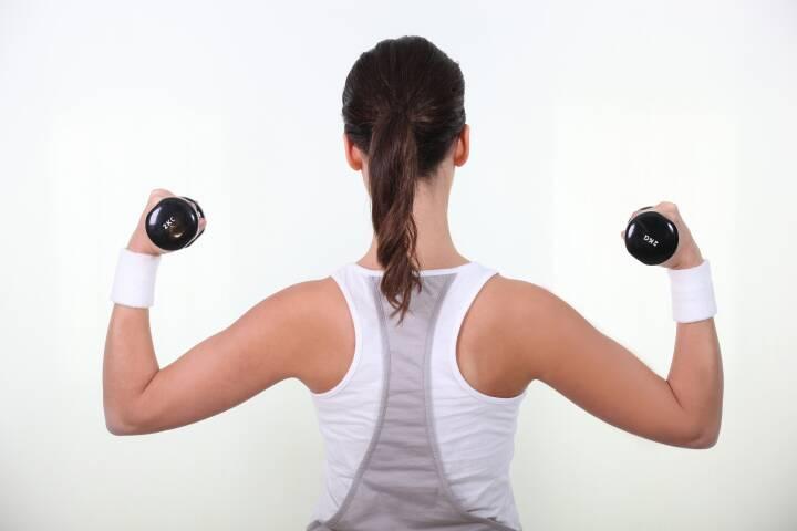 træning med håndvægte