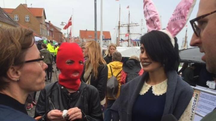 Punkaktivisterne Pussy Riot på Bornholm: Der kommer flere aktioner