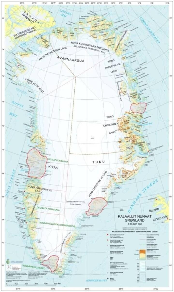 Satellitter Skal Tegne Forste Ensartede Kort Over Gronland