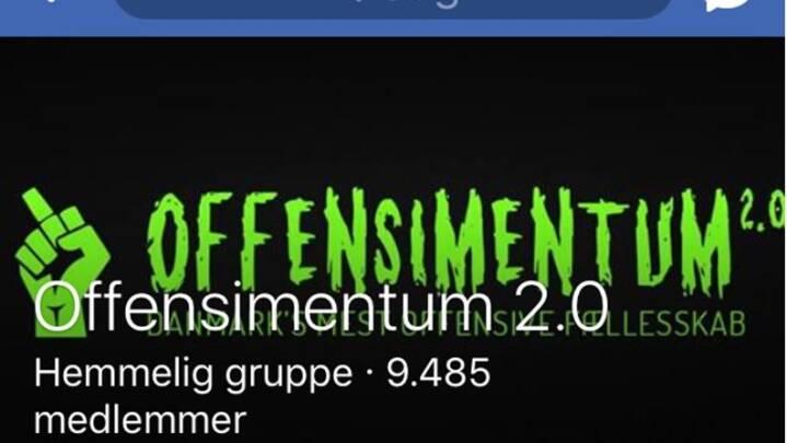 Offensimentum 2.0 er nu også lukket af Facebook