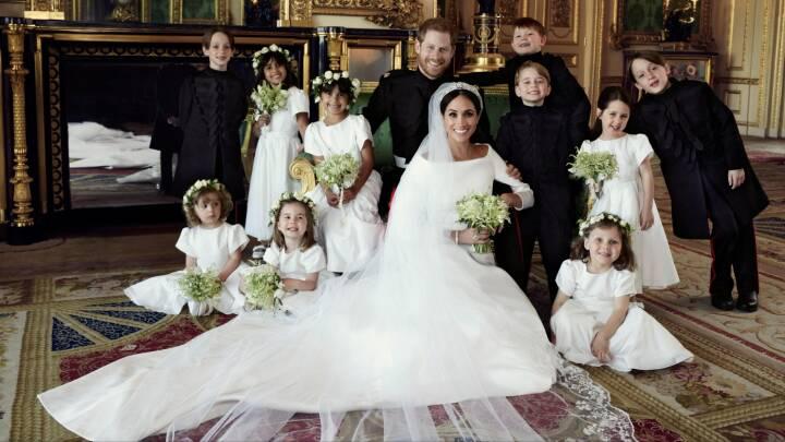 Kongehusets officielle billeder: Harry og Meghan fotograferet med hele familien