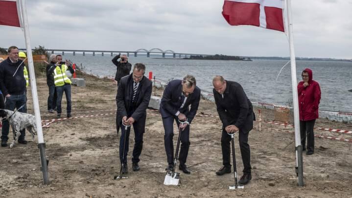 "Første spadestik til ny Storstrømsbro: ""Vi var nervøse for, at den gamle bro ville nå at styrte sammen"""