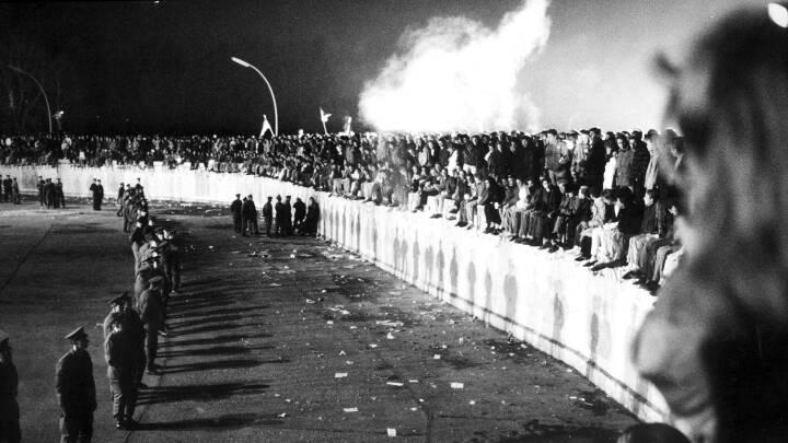 Berlinmuren falder