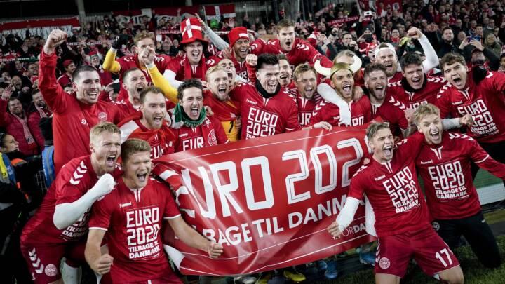 To af Danmarks gruppekampe ved EM bliver vist på DR1