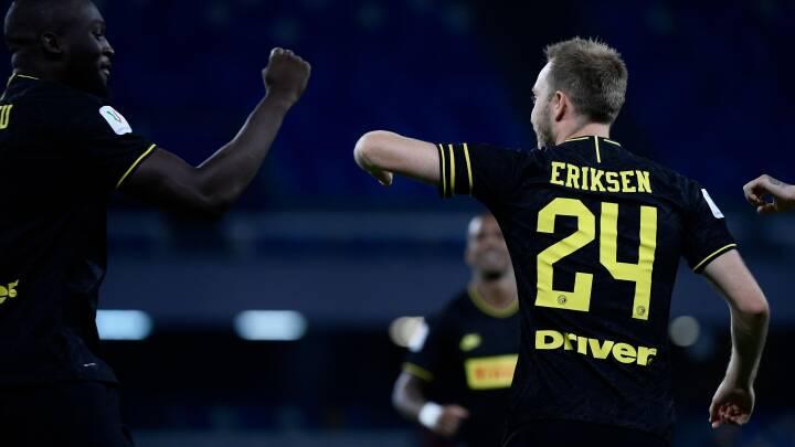 Eriksen scorer direkte på hjørnespark: Men Inter misser pokalfinalen