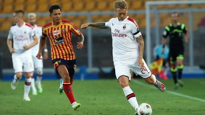 Kjær startede - men gik skadet ud i solid Milan-sejr