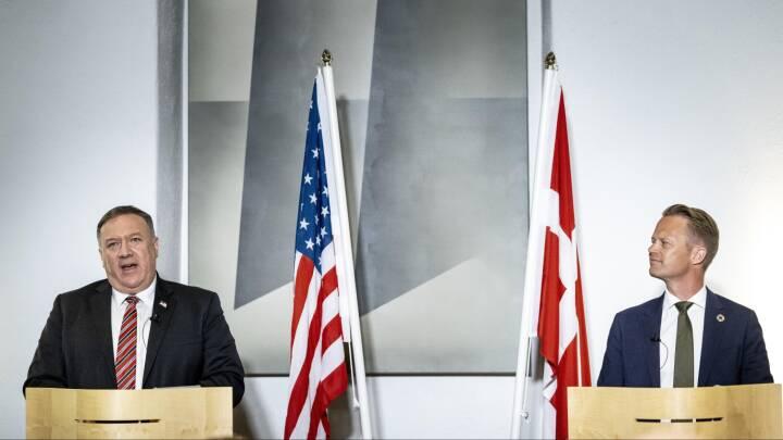 Pompeo træder på en øm tå: Danske partier bifalder kampen mod russisk gasledning