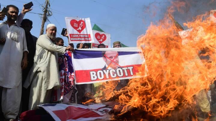 BILLEDER Protester mod Frankrig og Macron breder sig i den muslimske verden