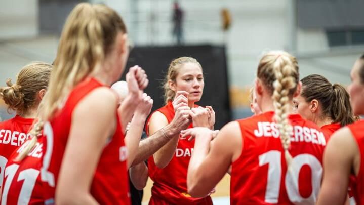 Dansk basketlandshold går ned efter pausen og taber i EM-kvalifikationen