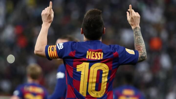 BILLEDER Messi blev historisk med mål nummer 643
