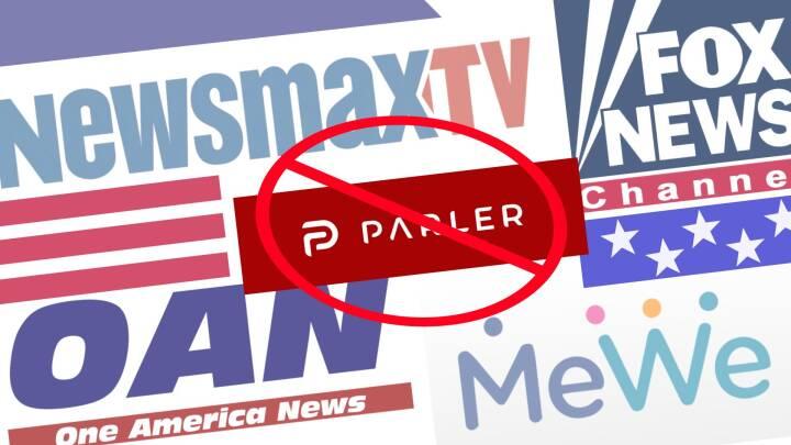 Farvel til Parler - men konspirationsteorier og valgfusk-historier lever videre hos MeWe