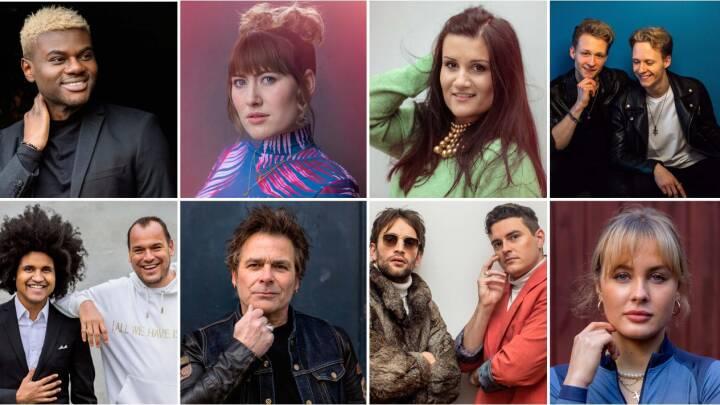 Kendte navne, nye stjerner - og et vildt comeback: Hør alle sangene i Dansk Melodi Grand Prix 2021