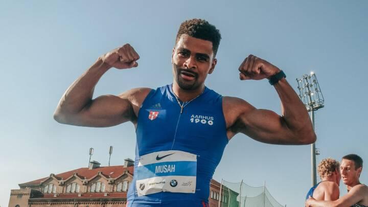 Boom! Musah sprængte Dynamit-Haris' danske rekord: Med blod på tanden jagter han nu en EM-finale