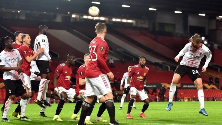 Simon Kjær blev den store helt for Milan mod Manchester United