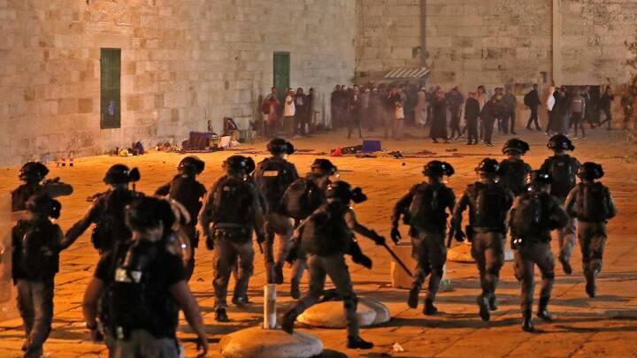 59 såret i sammenstød ved stor moské i Jerusalem