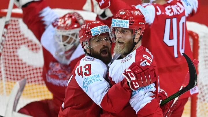 Danmark med kæmpe overraskelse: Slår Sverige for første gang ved VM i ishockey