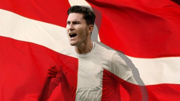 Da Jonas var dreng, malede han kinderne røde og hvide: I aften skal angriberen sparke Danmark i gang ved EM